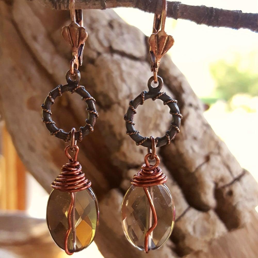 Image of Smoky Quartz drop earrings