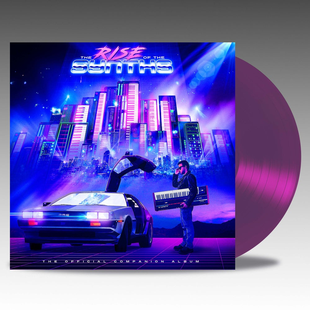 Image of The Rise Of The Synths (Collectors Edition) 'Trans Purple' Vinyl - VA *PRE ORDER*