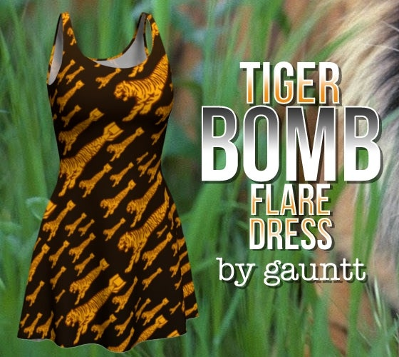 Image of Tiger Bomb! Flare Dress