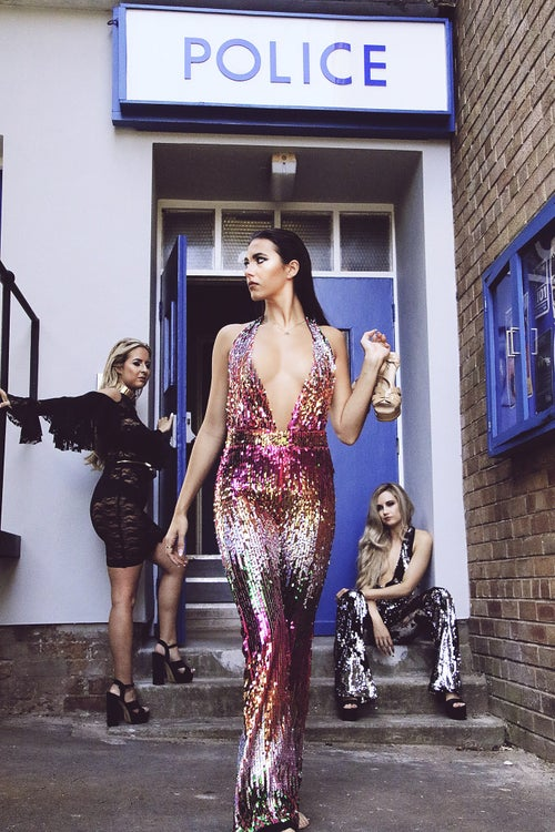 Image of Vegas Barbie Sequin Jumpsuit