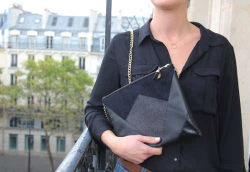 Image of Pochette *NINA* noire. -15% (45 euros au lieu de 53)