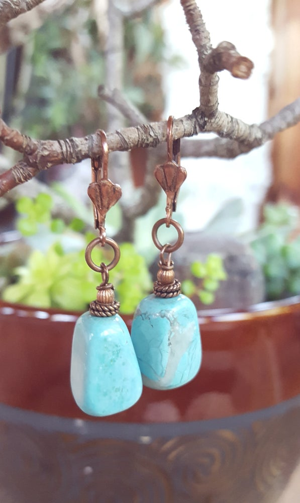 Image of Blue Turquoise earrings