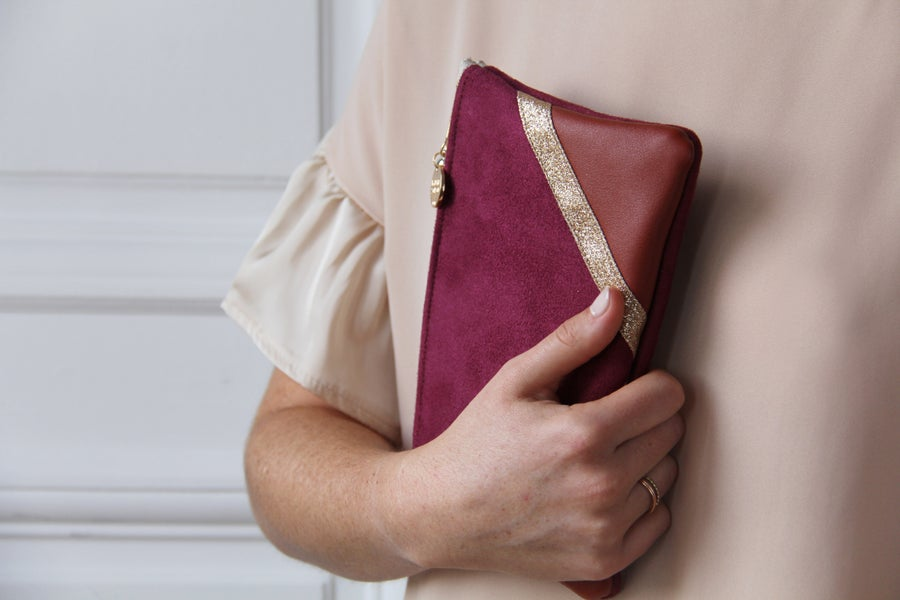 Image of Pochette *CHIARA* bordeaux.