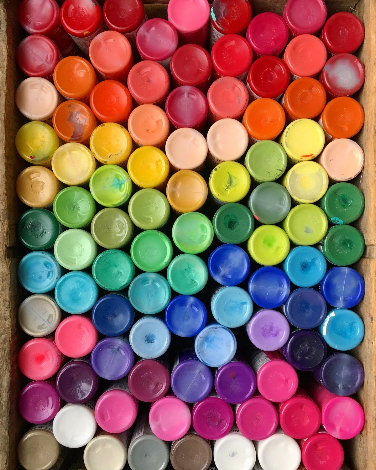 Image of Rainbow Paint Canvas