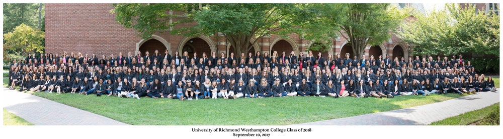 Image of University of Richmond Westhampton College Class of 2018