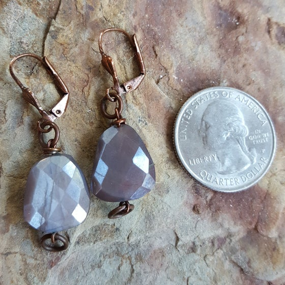 Image of Moonstone earrings