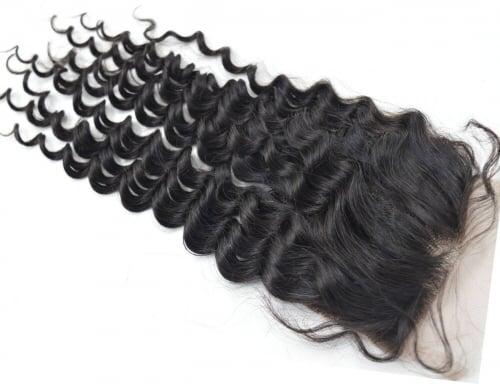Image of Brazilian Curly Lace Closure Grade 9A