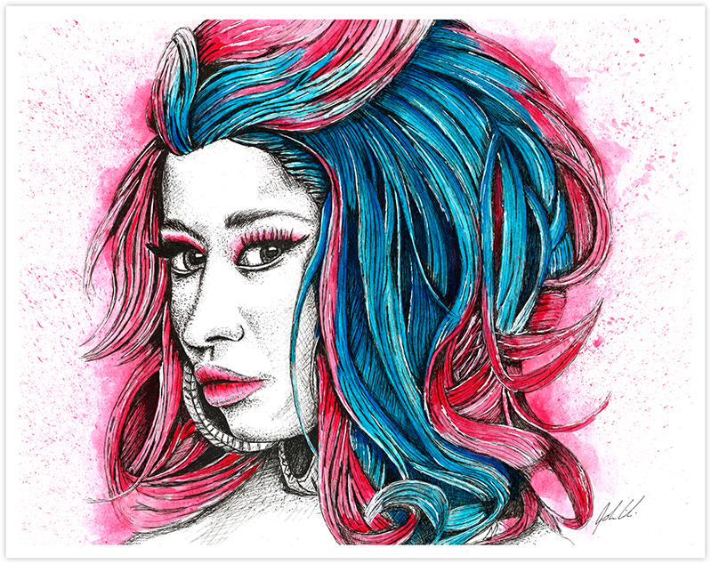 Image of Nicki Minaj Watercolor - Fine Art Print