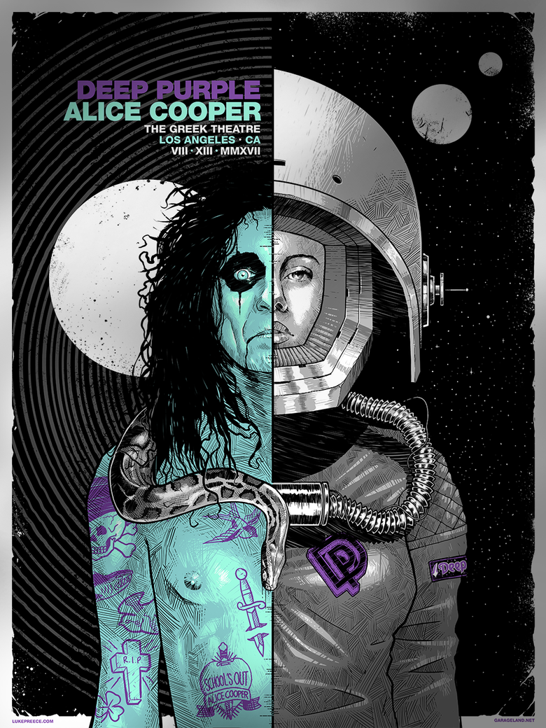Image of ALICE COOPER + DEEP PURPLE - THE GREEK THEATRE, LA - FOIL EDITION