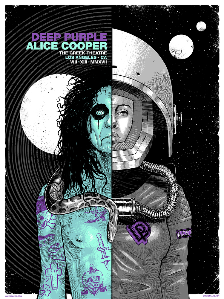 Image of ALICE COOPER + DEEP PURPLE - THE GREEK THEATRE, LA - REGULAR EDITION