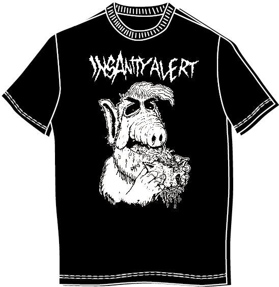 Image of Insanity Alert - Alf T-shirt (also Ladyfit!)