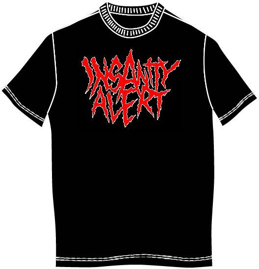 Image of Insanity Alert - Classic Logo T-shirt (Also Ladyfit!)