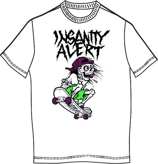Image of Insanity Alert - Skater T-shirt