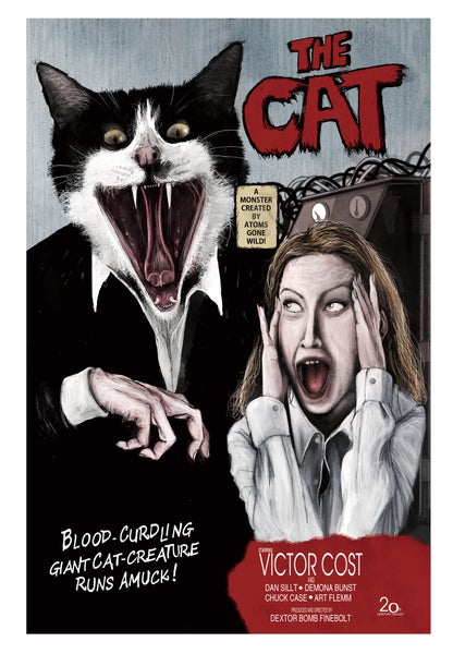Image of 'The Cat' movie poster print