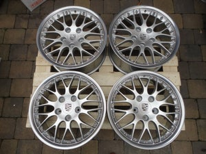 "Image of Genuine Porsche Boxster BBS Classic II 2-piece Split Rim 18"" 5x130 996 Alloy Wheels"