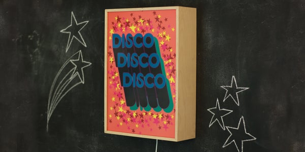 Image of DISCO DISCO DISCO STARS - Signed, limited edition, handmade light box