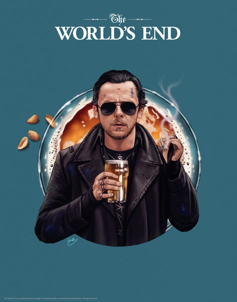 "Image of Simon Pegg/The World's End 11x14"" (officially licensed)"