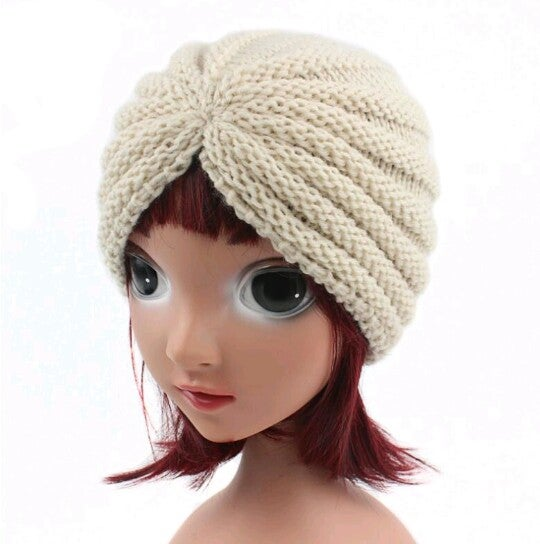 Image of Childrens Premium Stretchy Unisex Crochet Turban Style #2