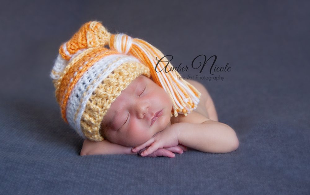Image of Candy Corn Tassel Hat - Orange, White, Yellow