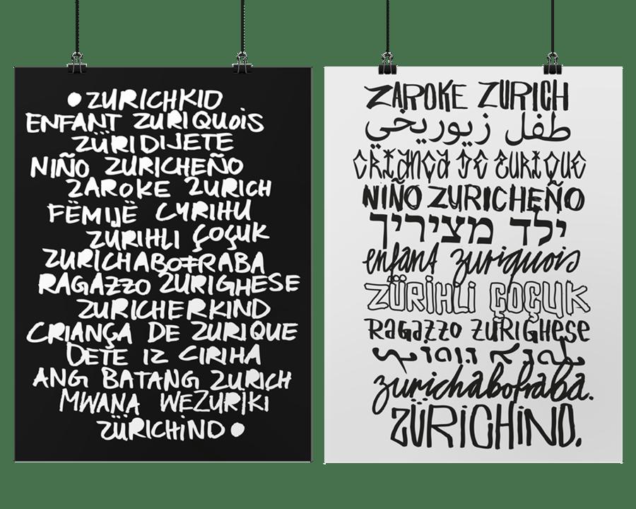 Image of ZÜRICHIND X - Poster Esperanto