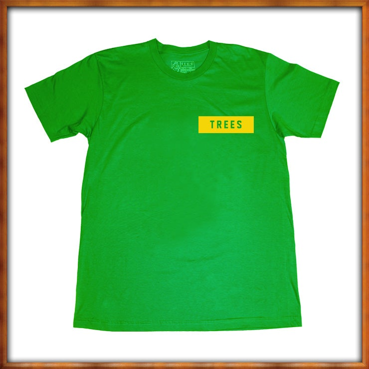 Image of TREES Box Logo Kelly Green