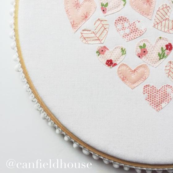 """Image of 8"""" Sugar Pie Heart of Heart Hoop"""