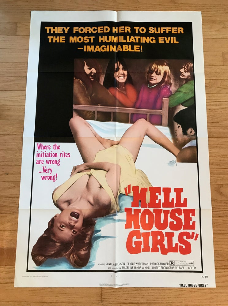 Image of 1974 HELL HOUSE GIRLS Original U.S. One Sheet Movie Poster