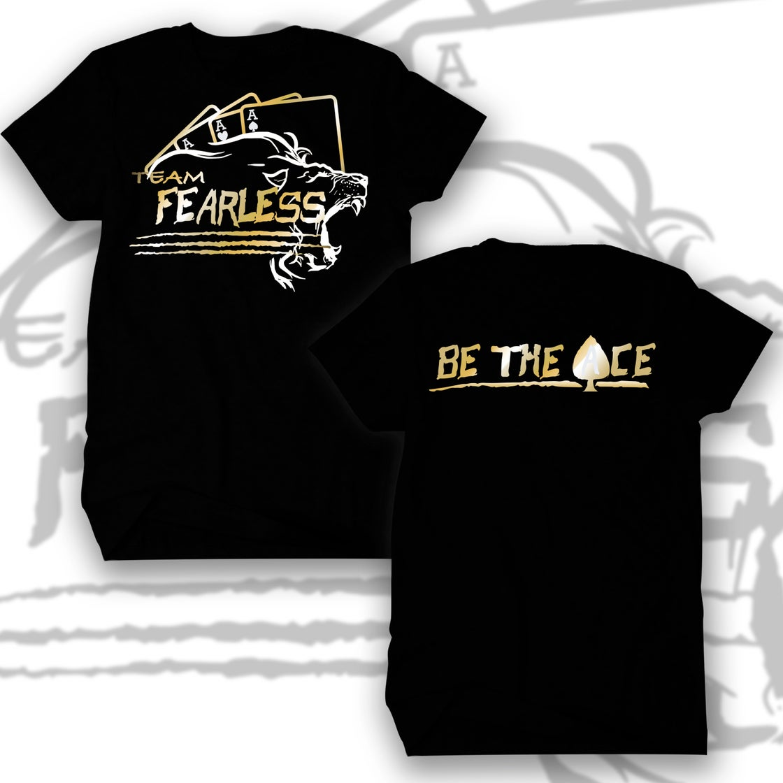 Image of TEAM FEARLESS VEGAS.... BE THE ACE (GOLD/WHITE)