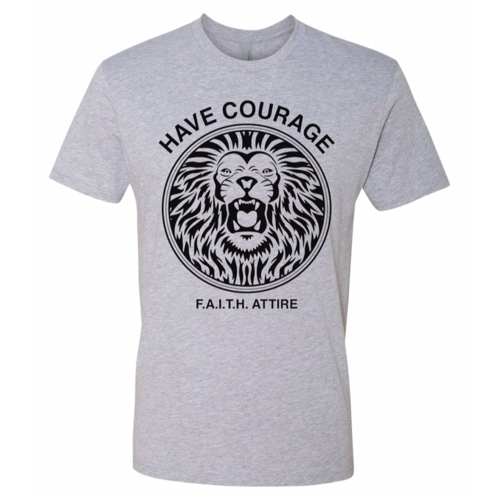 "Image of ""Have Courage"" Heather Grey shirt"