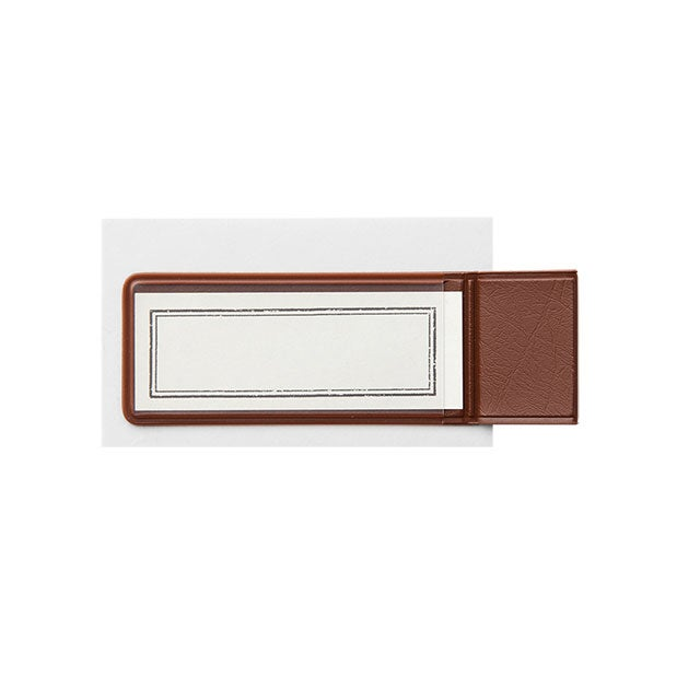 Image of TRAVELER'S notebook Brown Pen Holder Sticker 024