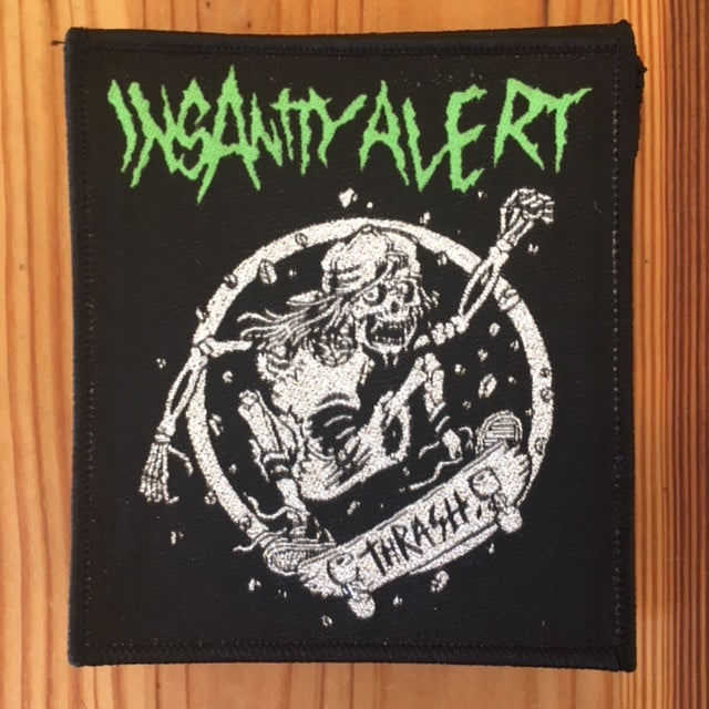 Image of Insanity Alert - Skater 2 embroidered Patch