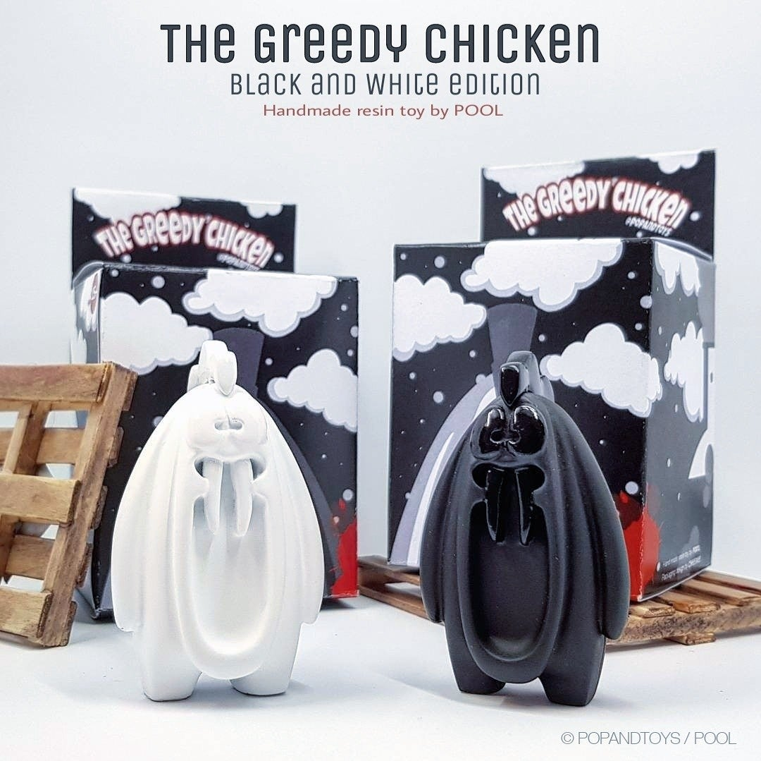 "Image of The Greedy Chicken  ""Black and white pack"" (X2)"