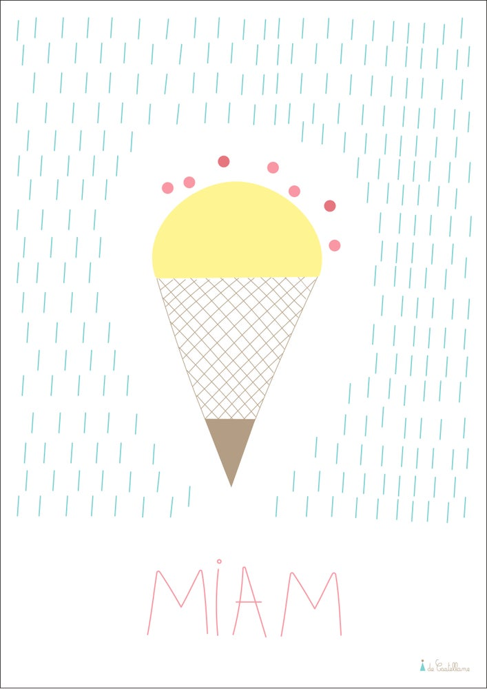Image of Affiche - Glace (A4)