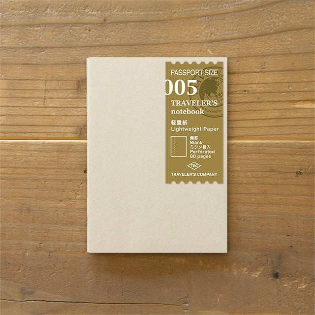 Image of TRAVELER'S notebook Passport Lightweight Paper Refill 005