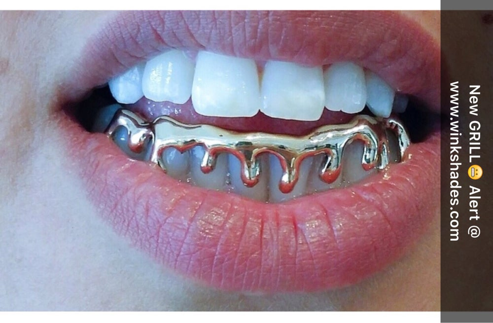 Image of DRIPPED GRILL (bottom grill) gold (sold out)