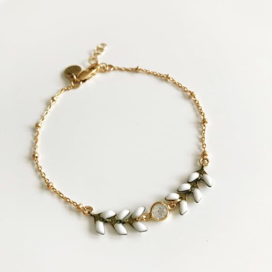 Image of CZ & chevron bracelet