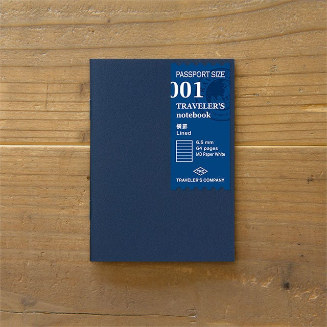 Image of TRAVELER'S notebook Passport Lined Refill 001
