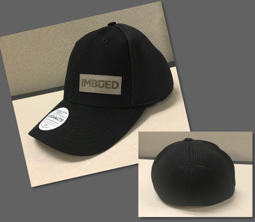 Image of Black/Grey Leather IMBUED Legacy Hats