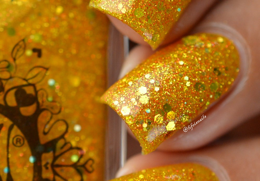 Image Of Jar Light Gold Yellow Jelly Glitter Spell Nail Polish Legends