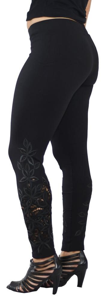 Image of Black Lace Richelieu FW6022BK