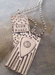 "Image of ""Live Fully""  Pewter Pendant"