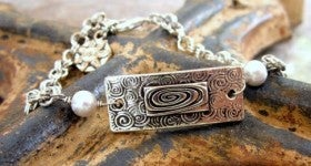 "Image of ""Life is a Journey ~ Enjoy the Moments"" Pewter Bracelet"