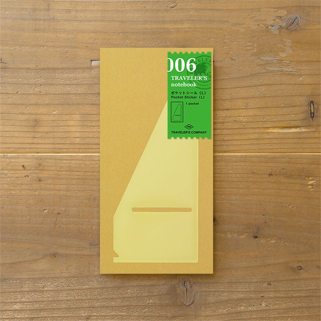 Image of TRAVELER'S notebook Regular (L) Pocket Sticker Refill 006