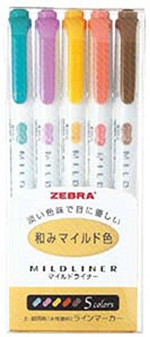 Image of Zebra Mildliner Highlighters 5 Color Set - RC