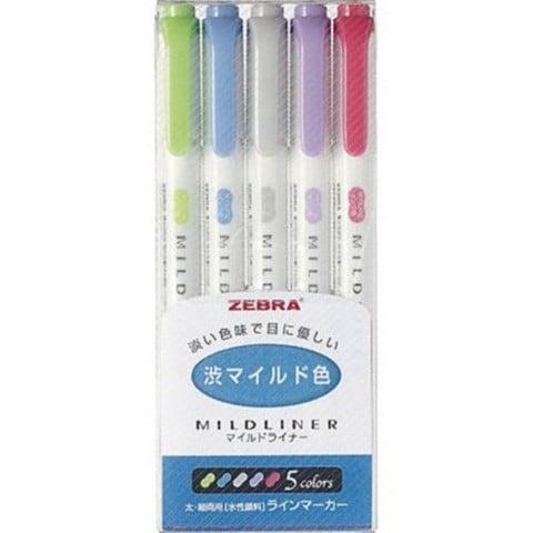 Image of Zebra Mildliner Highlighters 5 Color Set - NC