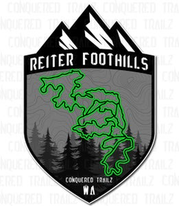 """Image of """"Reiter Foothills"""" Trail Badge"""