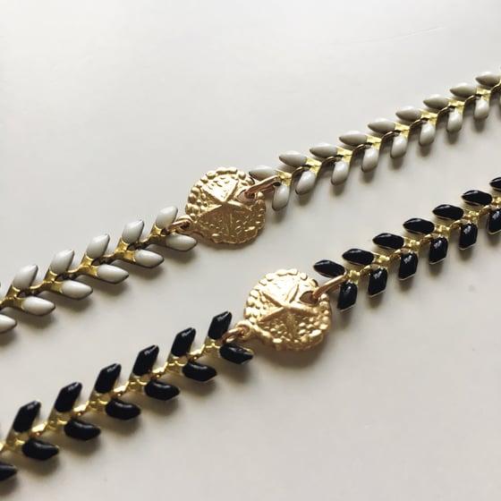 Image of Chevron Sand Dollar Bracelet