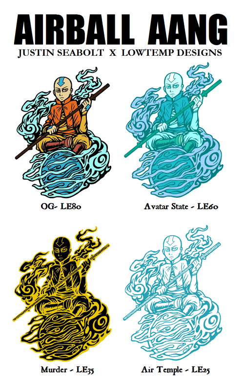 Image of Airball Aang (Lowtemp Designs x Justin Seabolt)