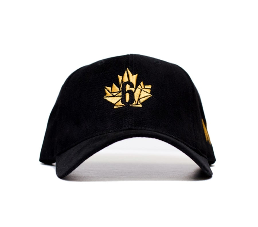 "Image of ""District"" Dad Hat - Black/Gold"