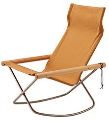 Image of NY Folding Chair X Rocking - Takeshi Nii Nychair X - Natural